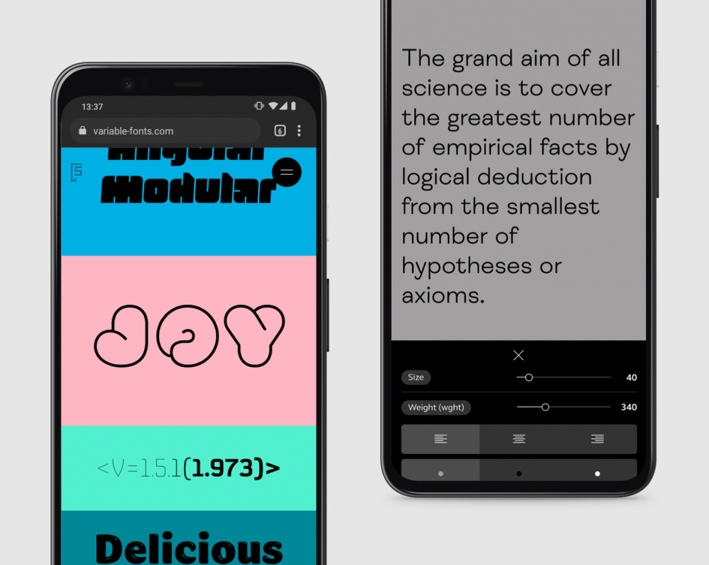 variable fonts mobile responsive design