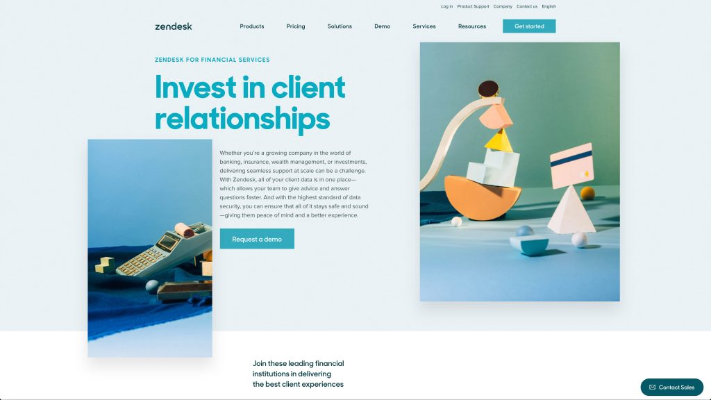 Zendesk for financial services
